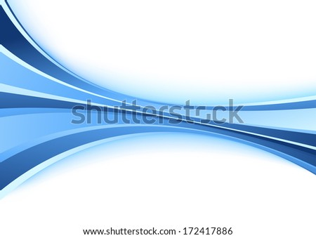 Poster with halftone blue wave. Vector illustration - stock vector