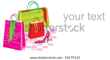 poster with shopping bags