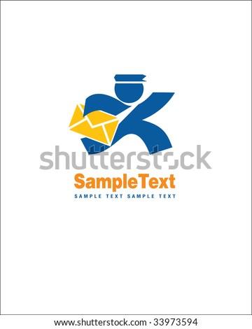 Postman sign - stock vector