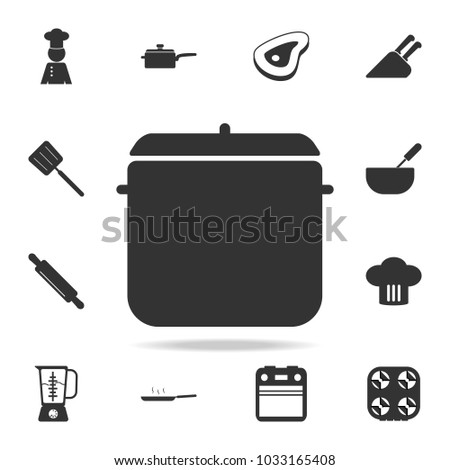 Pot Icon Set Chef Kitchen Element Stock Vector 1033165408 Shutterstock