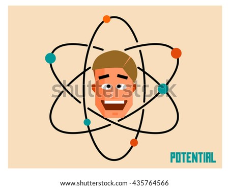 Potential people. Flat vector illustration. - stock vector