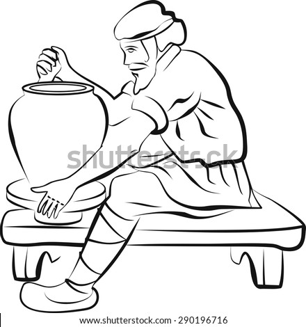 We Are Clay In The Potter S Hands Coloring Page