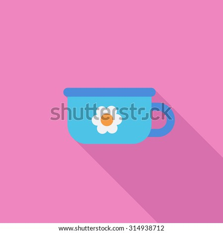 Potty icon. Flat vector related icon with long shadow for web and mobile applications. It can be used as - logo, pictogram, icon, infographic element. Vector Illustration. - stock vector