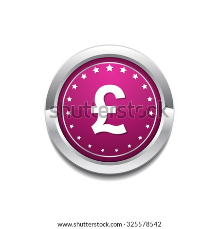 Pound Sign Pink Vector Button Icon