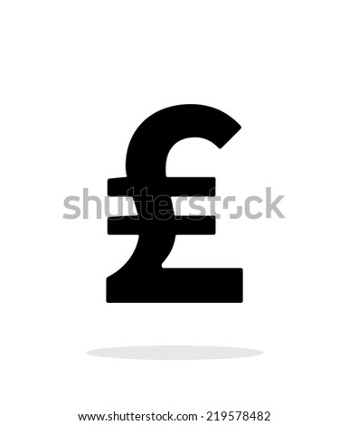 Pound sterling icon on white background. Vector illustration. - stock vector