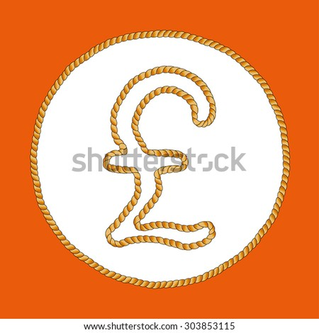 Pound Sterling Icons Pound Sterling Symbol Stock Vector 303853115