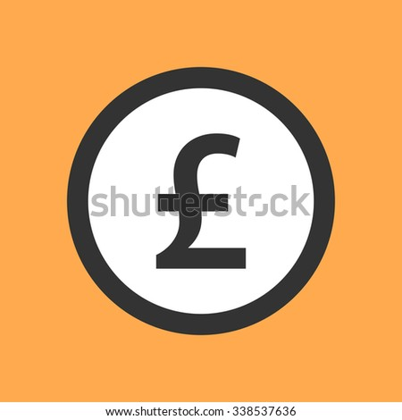 Pound sterling symbol in flat design. - stock vector