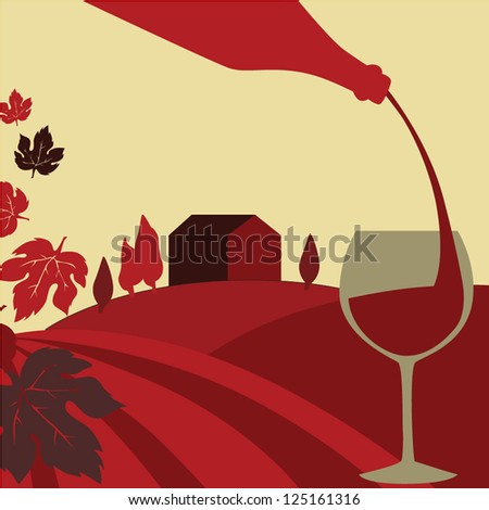 Pouring wine concept - stock vector