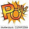 Pow text vector - stock