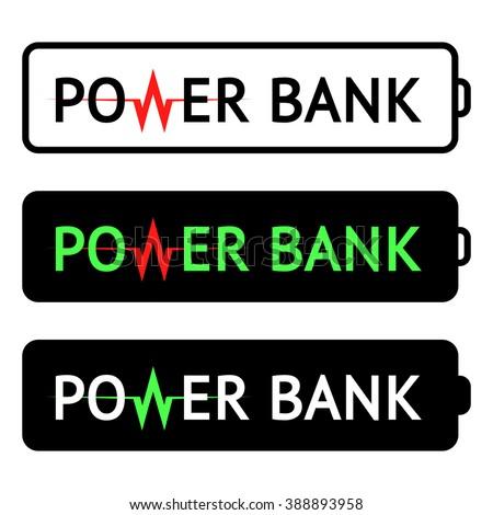 Power Bank Logo Vector Illustration Frame Stock Vector 388893958 ...