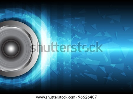 power beat of sound vector, music concept - stock vector