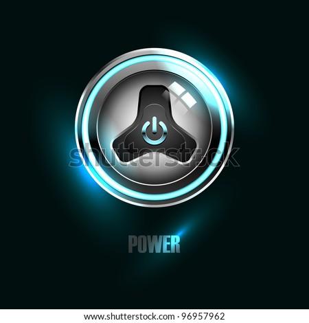 Power button - stock vector
