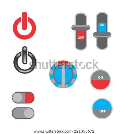 Power button icon designs set - EPS 10 - stock vector