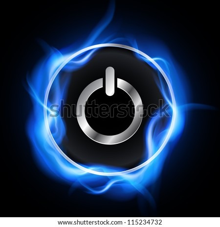 Power button, vector design. - stock vector