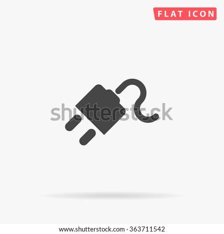 Power cord Icon Vector. - stock vector