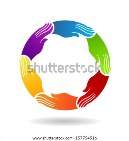 Power Hands Vector - stock vector