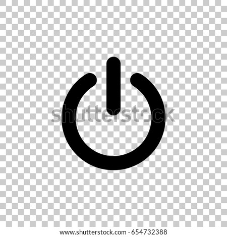Power Icon Isolated On Transparent Background Stock Vector Hd