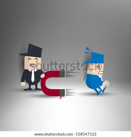 Power Of Attraction - stock vector