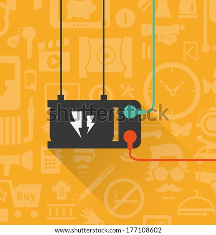 power outlet icon in minimal style - stock vector
