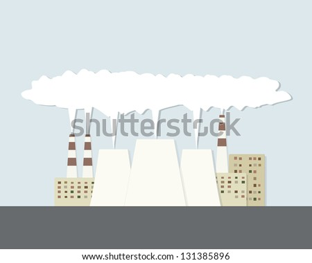 power plant - stock vector