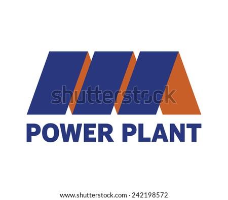 Power plant vector symbol - stock vector