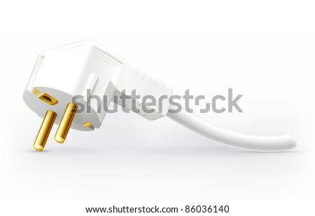 Power plug, vector - stock vector
