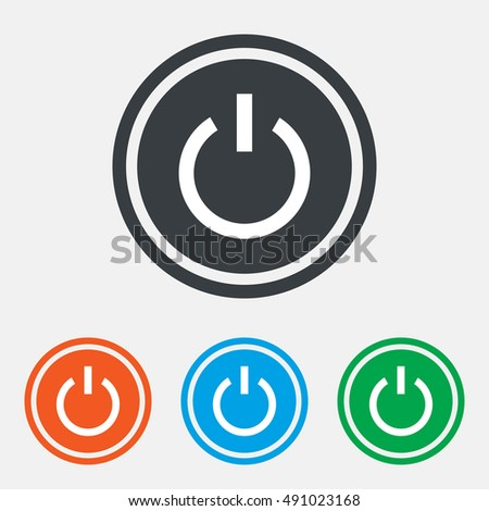 Power Sign Icon Switch On Symbol Turn Energy Graphic Design Web Element
