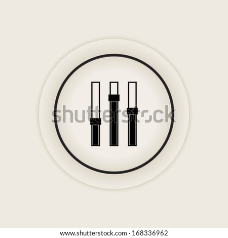Power slider icon - stock vector