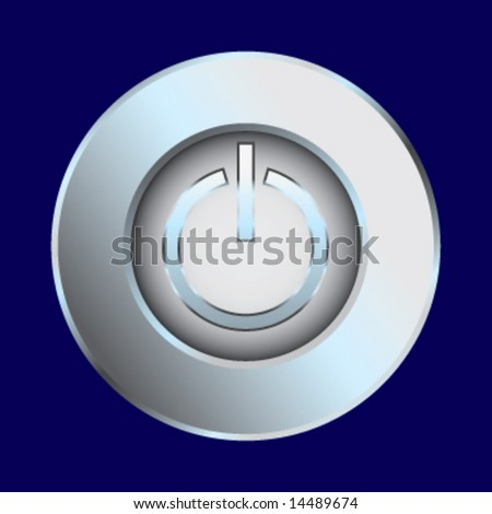 Power switch chrome vector illustration