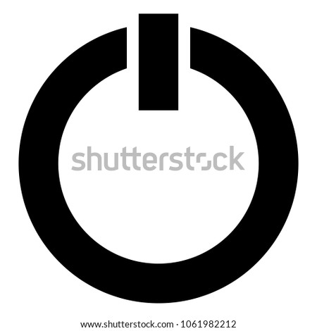 Power Symbol Power Button Icon Isolated Stock Vector 1061982212