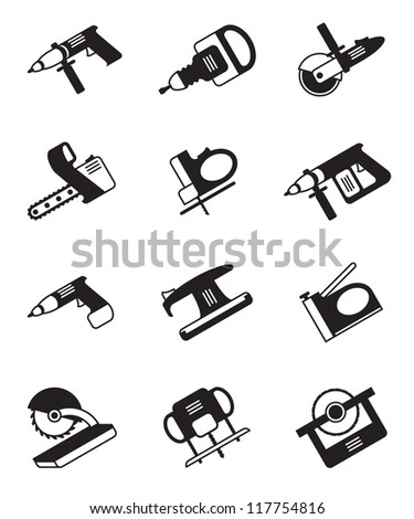 Power tools for construction - vector illustration - stock vector