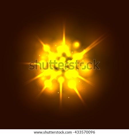 Powerful explosion background - stock vector
