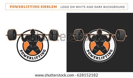 Powerlifting squat logo