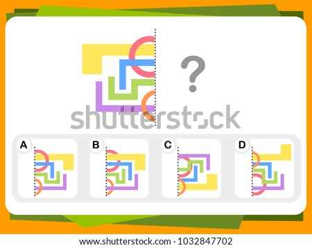 Practice Questions Worksheet Education Iq Test Stock Vector