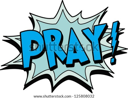 pray - stock vector