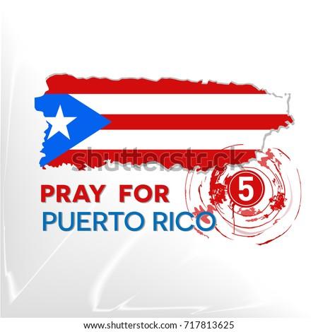Pray Puerto Rico Symbol Humanity Storm Stock Vector 717813625