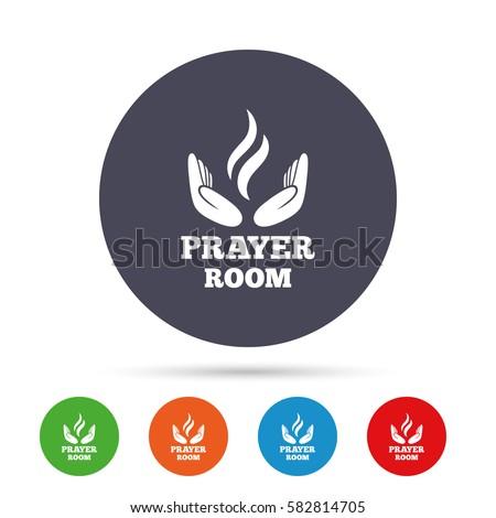 Prayer Room Sign Icon Religion Priest Stock Vector 582814705