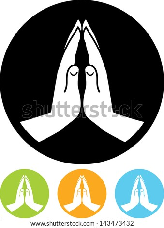 Praying hands vector icon  - stock vector