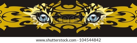 Predator eyes - a decorative strip