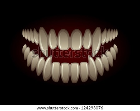 Predatory jaw - stock vector