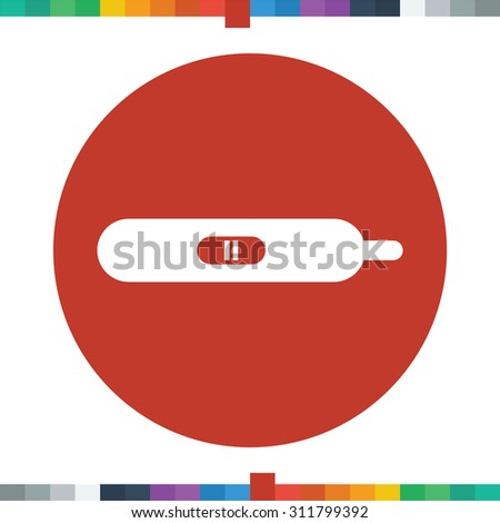 Pregnancy test icon. positive test result. - stock vector