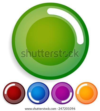 Preloader or buffer shape GUI element as completion, loader. Use it as a generic progress indicator. (Rotate or animate the small white bar with the transparent white ring and rotate it to any angle) - stock vector