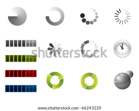 Preloading signs - stock vector