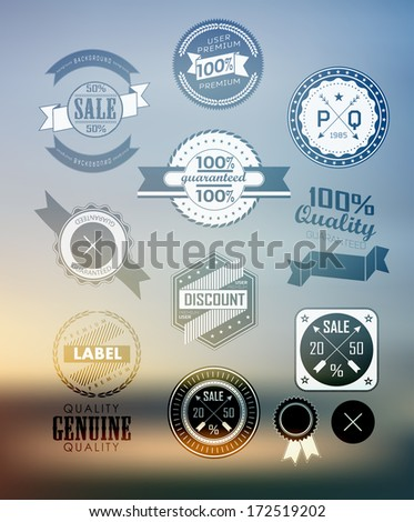 Premium and High Quality Label  on blur background, Icon