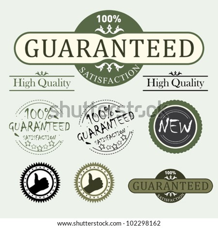 Premium and High Quality Labels whit vintage design - stock vector
