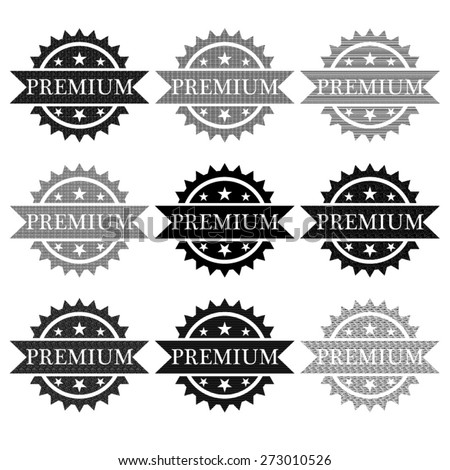 Premium badge. vector