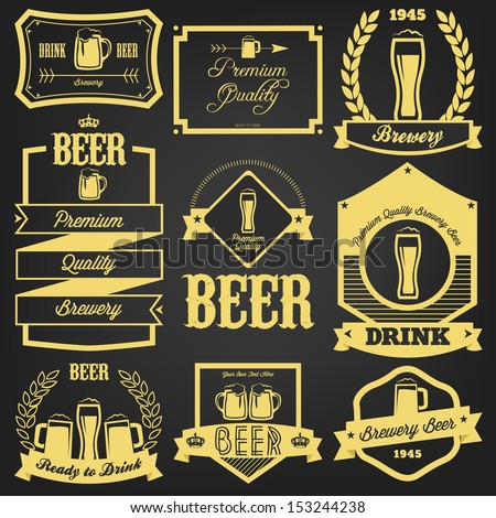 Premium Beer Label Design Stock Vector 153244238 - Shutterstock
