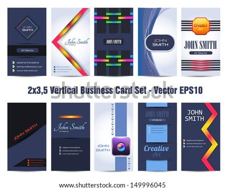 Premium business card design vector set stock vector 149996045 premium business card design vector set reheart Images