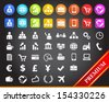Premium Business Icons.  - stock vector