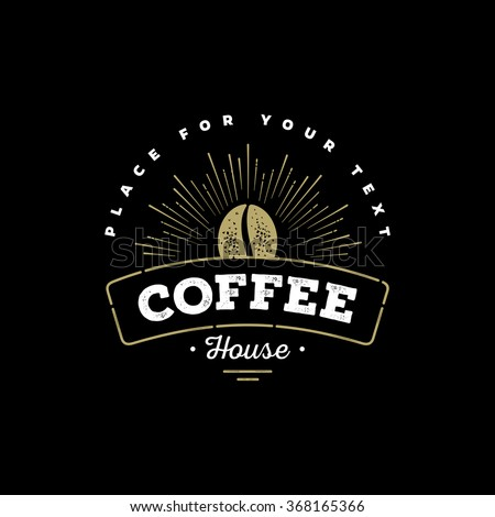 Premium Coffee Label, Coffee Badge, Coffee Emblem. Sign for Restaurant, Cafe, Shop. Vector illustration. - stock vector